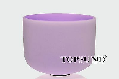 432Hz Perfect Pitch A# Pineal Chakra Violet Frosted Crystal Singing Bowl 10''