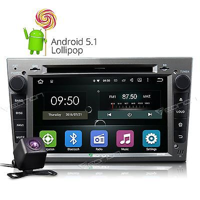 """Camera + Grey 7"""" Android 5.1 Car Stereo DVD Player GPS Radio for Vauxhall Opel C"""