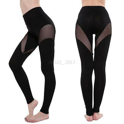 Women Sports Leggings Pants Fitness YOGA Workout Gym Athletic Stretch Trousers