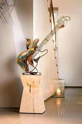 Timeless Design Picasso Stylised Metal Abstract Guitar Sculpture 80cm