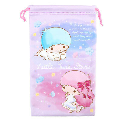 Sanrio Little Twin Stars Micro Fibre Drawstring Bag / Pouch (9-6213-13)