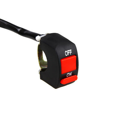 7/8''Motorcycle Handlebar Scooter ATV Dirt Bike Kill Stop ON-OFF Button Switch