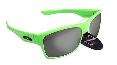RayZor Uv400 42 Neon Green Framed Smoked Mirrored Lens Archery Sunglasses RRP£49