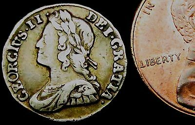 S005: 1732 George II Maundy Silver Twopence, Spink 3714A