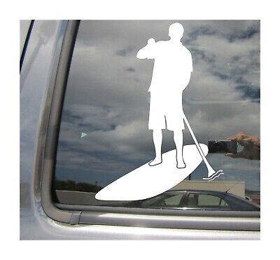 Stand Up Paddle Board Paddler SUP Auto Window Quality Vinyl Decal Sticker 04035
