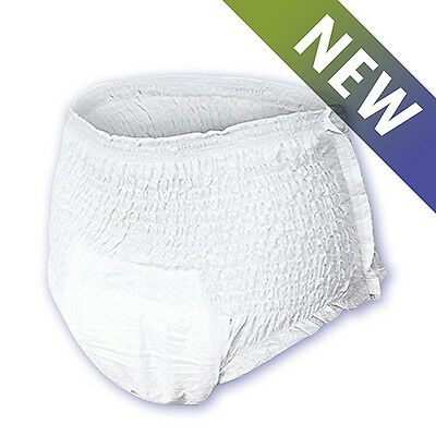 40 Medium Adult Pull Up Incontinence Pants, Nappies (Nateen Flexi Soft )