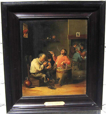 Manner of David Teniers 1610-1690 ANTIQUE OLD MASTER OIL PAINTING on wood panel