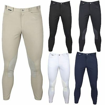 Horka Equestrian Mens Trainer Leather Knee Patch Front Back Pocket Breeches
