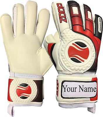 Zoop Pro Goalkeeper Goalie Hybrid Roll+Neg Finger Saver Gloves Size 8/9/10