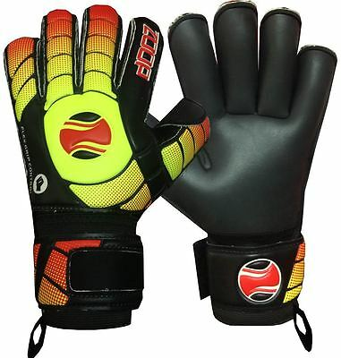Goalkeeper Goalie Roll Finger Saver Gloves Green Adult Size 8/9/10.
