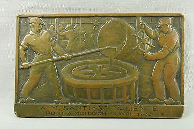 Placa de fundición. Bronce. 1933.