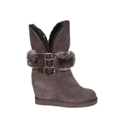 0a55326a5141 AUSTRALIA LUXE COLLECTIVE Hatchet Wedge Boot With Rabbit Fur ...