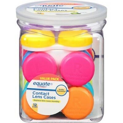 Equate Contact Lens Cases Value Pack 12 Count