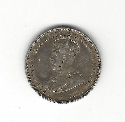 22. ONE WORLD COIN AUSTRALIA 1922 ONE SHILLING GEORGE V /  very fine