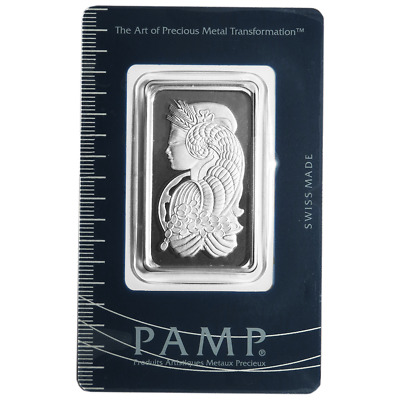 1 Troy oz Pamp Suisse Platinum Bar .9995 Fine Fortuna