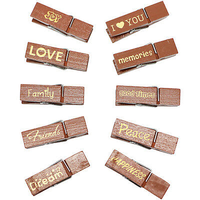 Fujifilm Sentiment Wood Peg Clips with Magnets for Instax Film Photos