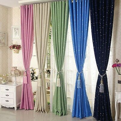 1PC Blackout Curtain Lovely Printed Child Bedroom Kids Study Shade Eyelet Drapes