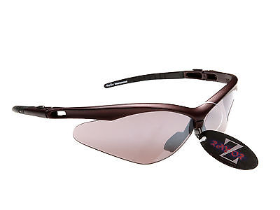 RayZor Uv400 Brown Framed Smoked Mirrored Lens Archery Sports Sunglasses RRP£49