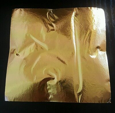 10 Sheets Imitation Gold Leaf, Art, Crafts 125x135 mm Easy To Use! LIMIT STOCK!