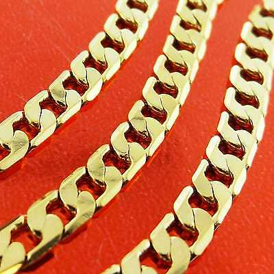 An894 Genuine Real 18K Yellow G/f Gold Solid Unisex Girls Boys Necklace Chain