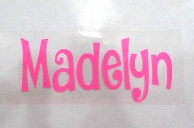 "1""X4"" DIY Iron On Name Pick Color & Font, Matte, Glitter or Neon - Ships FREE!"