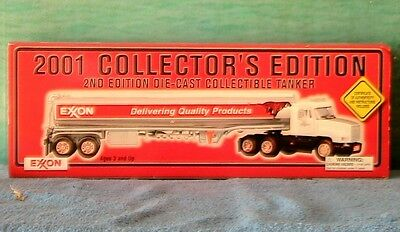 Exxon Toy 2001 Tanker Truck 2Nd Collector's Edition Die Cast