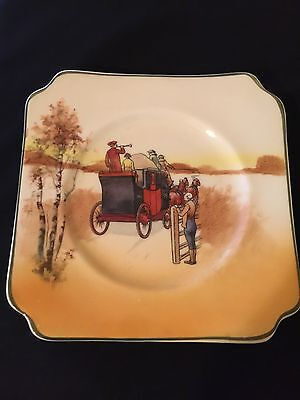 Antique Royal Doulton Coaching Days Series Ware Side Plate - Smooth Bone 1937