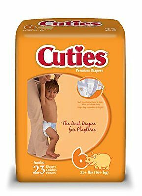 Cuties Baby Diapers Size 6, 23-Count, Pack of 4