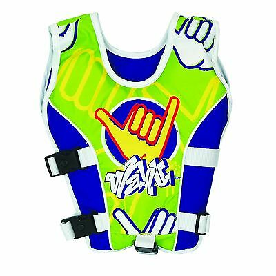 New Wahu Swim Vest Child Small 15-25Kg Green Bma199