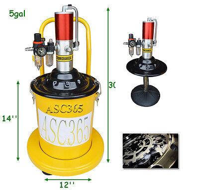 New Air Pneumatic Compressed Grease Pump Injector High Pressure Filler 5 Gallon
