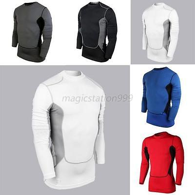 Men Compression Short Sleeve Sports Tops Base Layer Running Gym Fitness Blouse