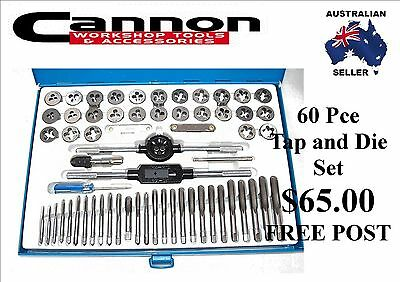 Tap And Die Set 60Pc Metric &  Sae New In Metal Case Cannon Tools