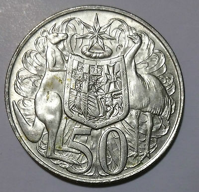 Australian 1966 Round 50 cents  80% Silver Coin Sending from Australia.