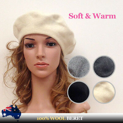 100% Wool French Style Beret Made in Korea Premium Quality Winter Hat -fr sydney