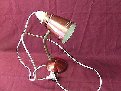 Old Anodised Bed Lamp