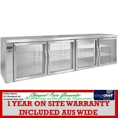 Fed Commercial Four Door Glass Display Bar Cooler Remote Unit Fridge Cold Bb780R