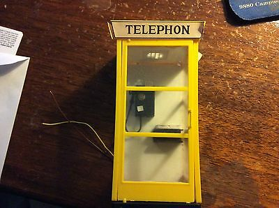 Pola Lgb Scale 1/22.5 Yellow Telephone Booth, Used.