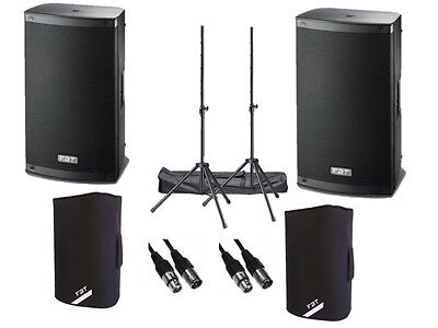 "FBT Xlite 12A Active 2000W 12"" Powered Speaker DJ Disco PA Sound System Package"