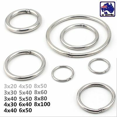 5x Welded Ring Stainless Steel O Round Rings Circle Craft Webbing Boat SRIN24