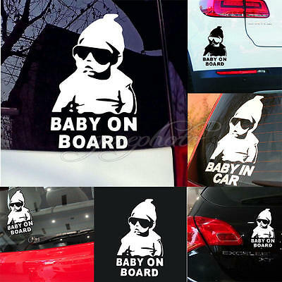 Baby on Board decal/sticker funny truck car window laptop Hangover baby safety