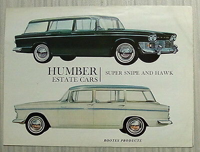 HUMBER SUPER SNIPE & HAWK ESTATE Cars Sales Brochure 1963-64 #1031H