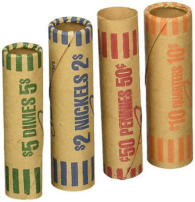 Pre Formed Kraft Paper Coin Wrapper Roll Money Tube for Sorting Counting Machine