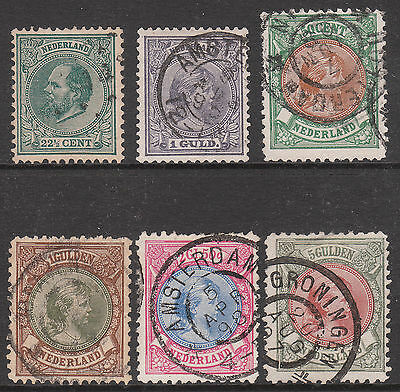 HOLLAND 1888 1893 1894 SELECTED USED STAMPS incl 1896 #165