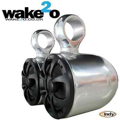 Indy Wakeboard Tower Speakers * SALE was £310 * Anodized Aluminium universal fit