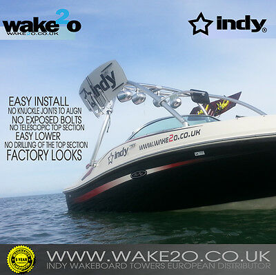 INDY LIQUID PRO 2 Wakeboard tower ANODIZED 5 YEAR WARRANTY boat wakeboarding