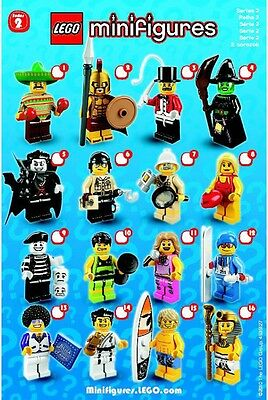 Lego Series 2 Minifigures  CHOOSE 1 FACTORY SEALED MiniFigure Spartan Surfer CMF