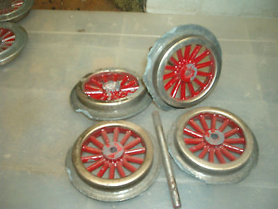Junk Locomotive Wheels & Axles For 1930's American Flyer Standard