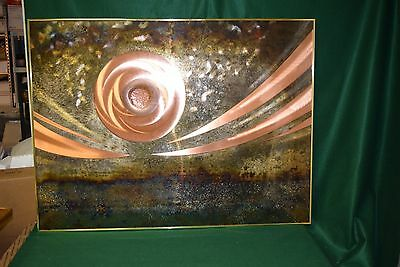 "Contemporary Copper - Huge Abstract Wall Art 3D - Sci Fi - Space - 36"" x 48"""