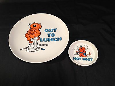 Heathcliff Plate And Coaster Papel Out To Lunch Hot Shot