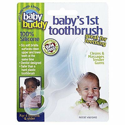 Baby Buddy Baby's 1st Soft Teeth Gum Toothbrush Clear ~New~